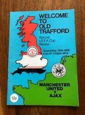MANCHESTER UNITED V AJAX 1977 UEFA CUP PROGRAMME FREE POSTAGE MAN UTD LOOK