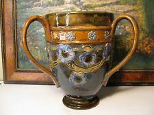 Large Doulton Lambeth Art Nouveau Art Deco Three handled TYG - Loving cup C1920