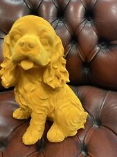More details for flocked king charles spaniel dog ornament new