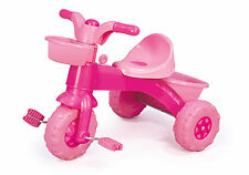 Pink Girls My First Pedal Trike Tricycle Outdoor Toy + Basket Horn Ignition Key