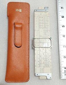 """Keuffel & Esser Co. 7"""" Slide Rule 1947. Part # ? 136256, D1 256. USA w sheath."""