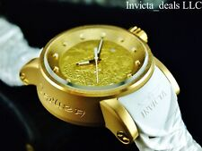 Invicta Men's S1 Yakuza Dragon 18K Gold IP Automatic NH35A SS White Strap Watch