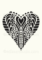 Heart STENCIL Love Lace Vintage Paint Wall Furniture Wood Reusable Crafts HE16