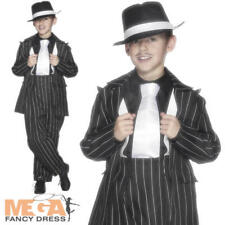 Zoot Gangster Suit Boys Fancy Dress 1920s Mafia Kids Childs Costume Party Outfit