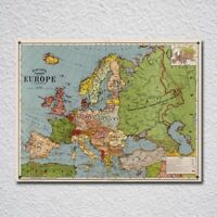 Map of Europe in 1920 Vintage Retro Tin Sign Metal Sign