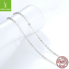 45CM Necklace Chain 925 Sterling Silver Lobster Clasp Adjustable Simple Chains