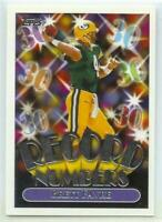 Brett Favre Packers 1999 Topps Record Numbers