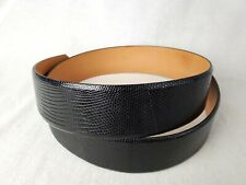 Wehmeier's New Orleans Genuine Black Lizard Belt 44""