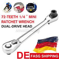 1/4'' Mini Ratsche Knarre Steckschlüssel 72 Zähne Auto Ratschenschlüssel   ✌