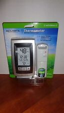 Acu-Rite Wireless Indoor Outdoor Thermometer High Low Memory Clock Gray/Black