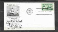 1957 US Artcraft FDC Scott #1091 International Naval Review Unaddressed