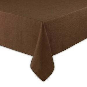 Basketweave Easy Care Tablecloth (52 x 70 inch, Bark)