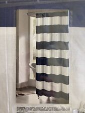 New listing New Kenzie home Toto Cabana Stripe Shower Curtain, 70x70, Navy/white