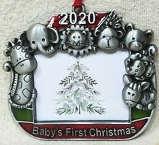 CHRISTMAS TREE ORNAMENT PHOTO PICTURE FRAME 2020 BABY'S FIRST 1st TOYS & ANIMALS