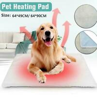 Warm Self Heating Cat Dog Bed Winter Pet Thermal Mat Blanket AU Washable H0S8