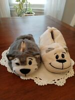 FLIP A ZOO NEW TODDLER SLIPPERS DOG/CAT NWT WOW SM 10/12