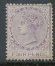 LAGOS 1884, Definitive Queen Victoria 4 D lilac very fine unused no gum