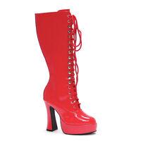 Ellie EASY Red 5 inch Heel Platform Knee Boots W/Zipper