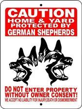1737 GERMAN SHEPHERD DOG SIGN,9 X 12 ALUMINUM SIGN,SECURITY,WARNING,