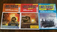 3 Weltkrieghefte - Kriegserlebnisse aus Sicht der Wehrmacht