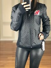 NHL New Jersey Devils Textured Performance Jacket, Black Women's S