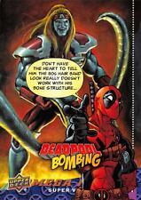 Deadpool Marvel 2018 (Upper Deck) BOMBING Trading Card Insert DB-4 / OMEGA RED
