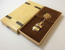 AUTH GUCCI PERFUME BOTTLE PENDANT/CHAIN 1970S RARE HIGHLY COLLECTIBLE