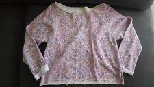 Billabong Girls floral cropped long sleeved top size L