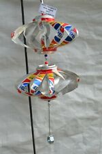 PEPSI THROWBACK HAS REAL SUGAR 2 LAYER ALUMINUM CAN WHIRLIGIG WIND SPINNER