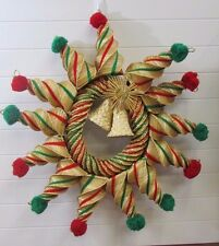 "Vintage Fabulous Intricately Woven Mexican Straw Wreath 24"" Diameter"