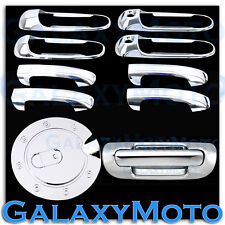 99-04 JEEP GRAND CHEROKEE Chrome 4 Door Handle W/PSG KeyHole+Tailgate+GAS Cover