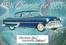 1953 Chevrolet Bel Air 150 210 Original Sales Brochure