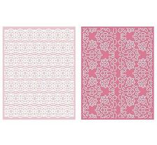 Lifestyle Crafts GooseBumpz, Double Pack, A2 Embossing Folders LACE ~ EF0037