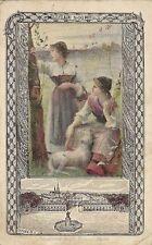CHROMO CALENDRIER ANNEE 1900 COMPAGNIE COLONIALE CHOCOLATS ET THE LE SOIR NANCY