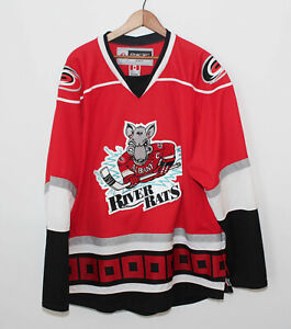 CCM Reebok Made In Canada Albany River Rats Jersey AHL Defunct Team Men's Large