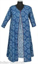 10 Cotton Long Dress Tunic Women's Top Hand printed Kurtis Wholesale DR152 U