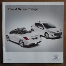PEUGEOT ALLURE gamme orig 2010 UK Mkt Sales Brochure - 107 207 207CC 308CC 308