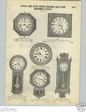 1928 PAPER AD Waterbury Natchez Regulator Wall Clock Ansonia Lever Selsi French
