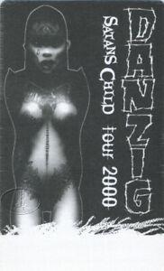 DANZIG 2000 Satan's Child Tour Backstage Pass