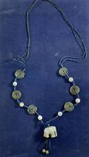 Vintage Chinese? Green & White Jade/Jadeite? Elephant Necklace