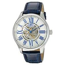 Invicta 22567 Men's Automatic White & Silver Dial Blue Band Watch