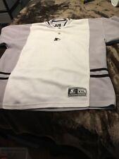Vintage Starter Button Oakland Raiders Colors Athletic Shirt Short Sleeve 2XL