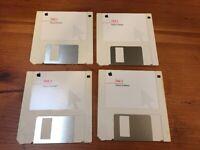 Vintage 1995 Mac Macintosh Printer Software Installation Floppy Disks