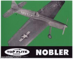 Model Airplane Plans (UC): Top Flite NOBLER (GB) Aldrich Stunt • ALL PATTERNS