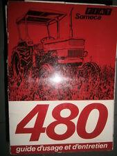 Someca Fiat tracteur 480 : notice utilisation 1976