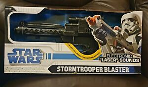 Star Wars Electronic Sounds E11 Stormtrooper Blaster by Hasbro 2008 Used Boxed.