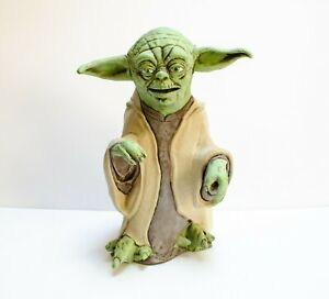 """1999 YODA PUPPET 13"""" APPLAUSE Star Wars Latex Rubber Vintage"""