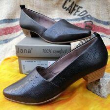 Jana Hochfrontpumps UK 4,5 NEU Gr.37,5 Damen Schuhe Braun Leder Anti-Shokk