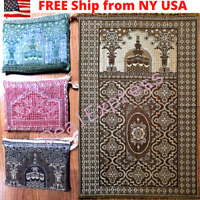 Muslim Travel Mat,Islamic Prayer Rug janamaz Turkish Sajda Mat BestQuality-Gray