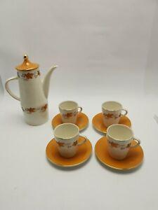 Palissy Autumn Flame Coffee Set retro vintage orange